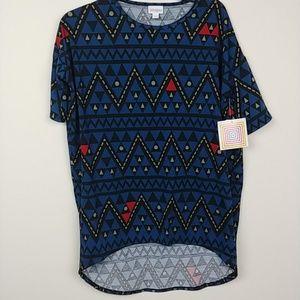 LuLaRoe | Irma Blue Tribal printed tunic top